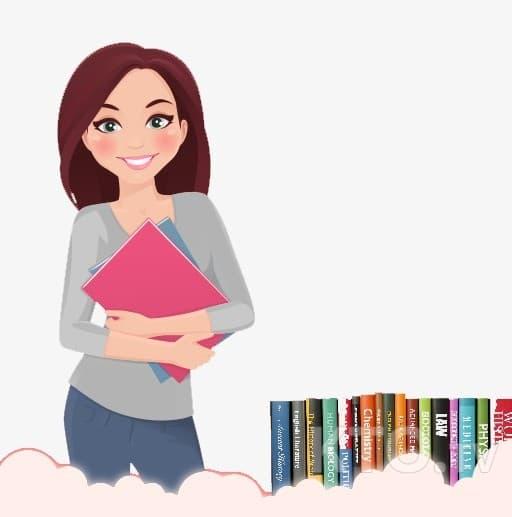 картинка воспитатель с книгой на прозрачном фоне список вещей